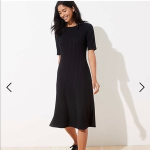 Petite ribbed midi dress - LOFT size PM